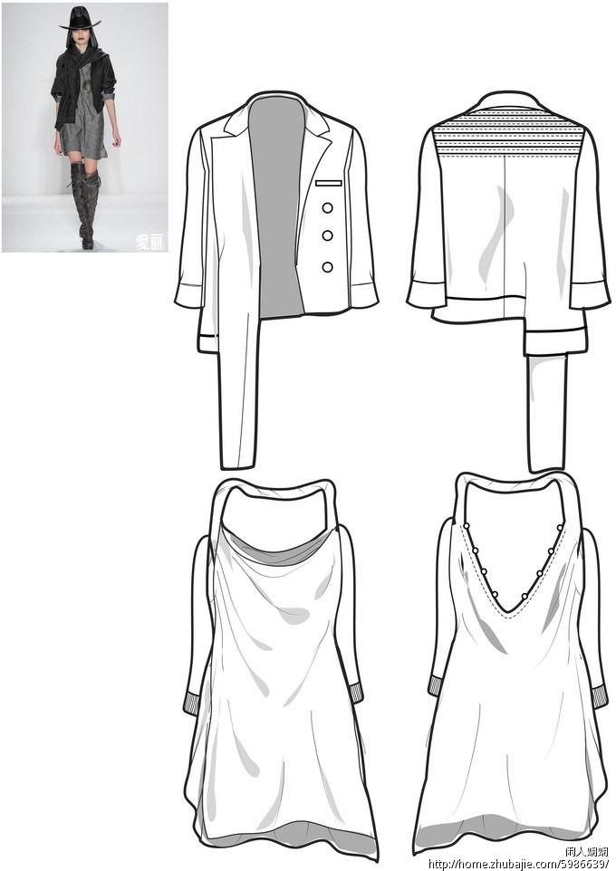 裙子服装款式手绘